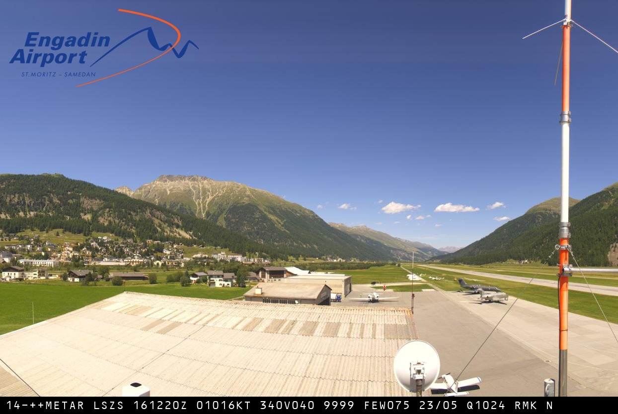 Webcam Engadin Airport