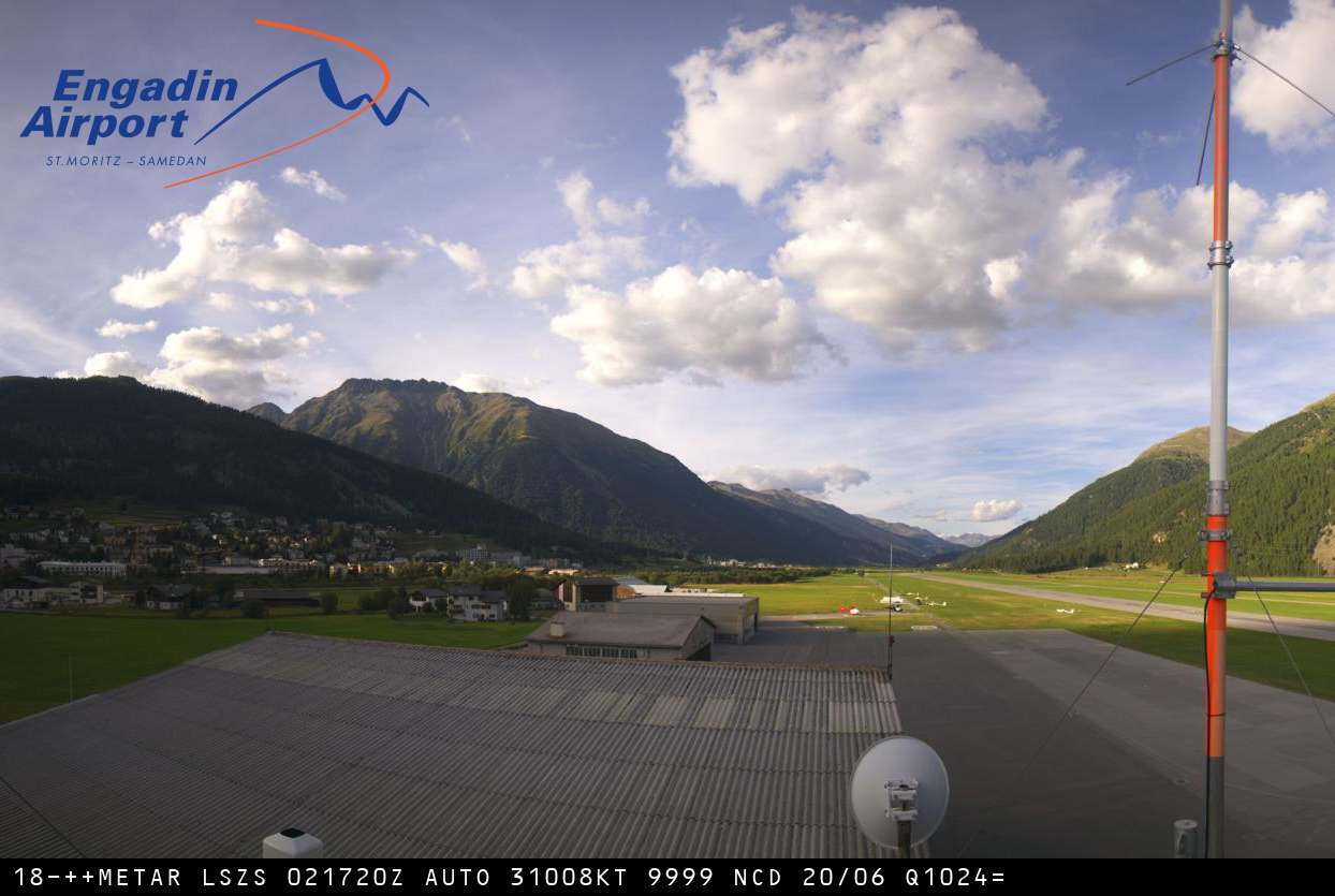 Webcam Samedan Engadin Airport SMV&nbsp;Live webcamera